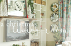 a christmas living room tour