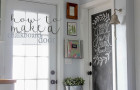 An Easy DIY Chalkboard Door