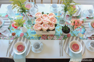 nautical stripes and bold floral