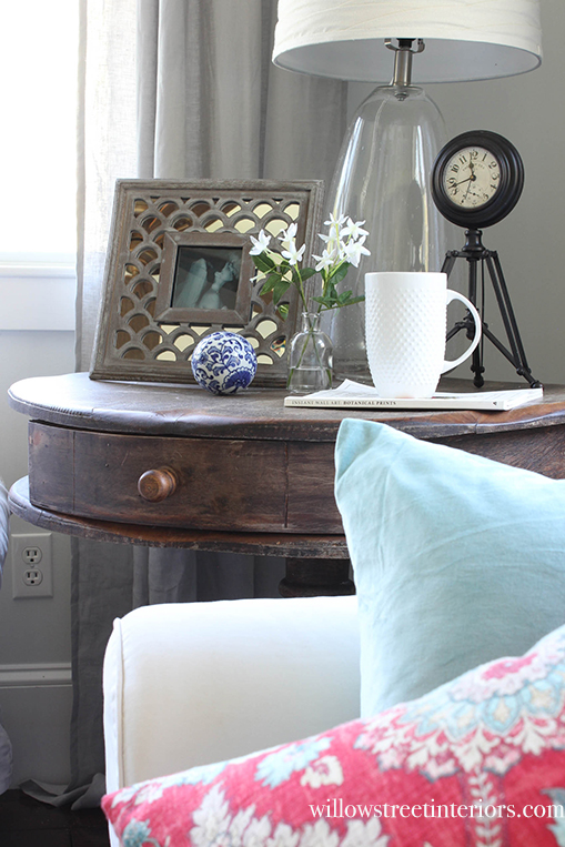side table vignette
