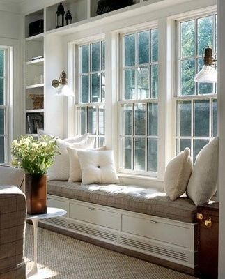 window seat with sconces