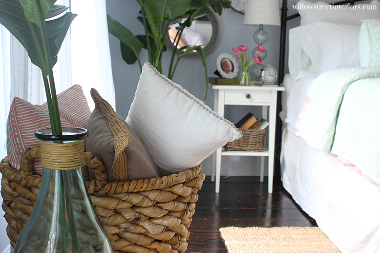 basket for pillows