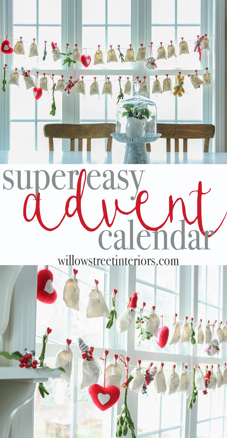 super easy advent calendar tutorial