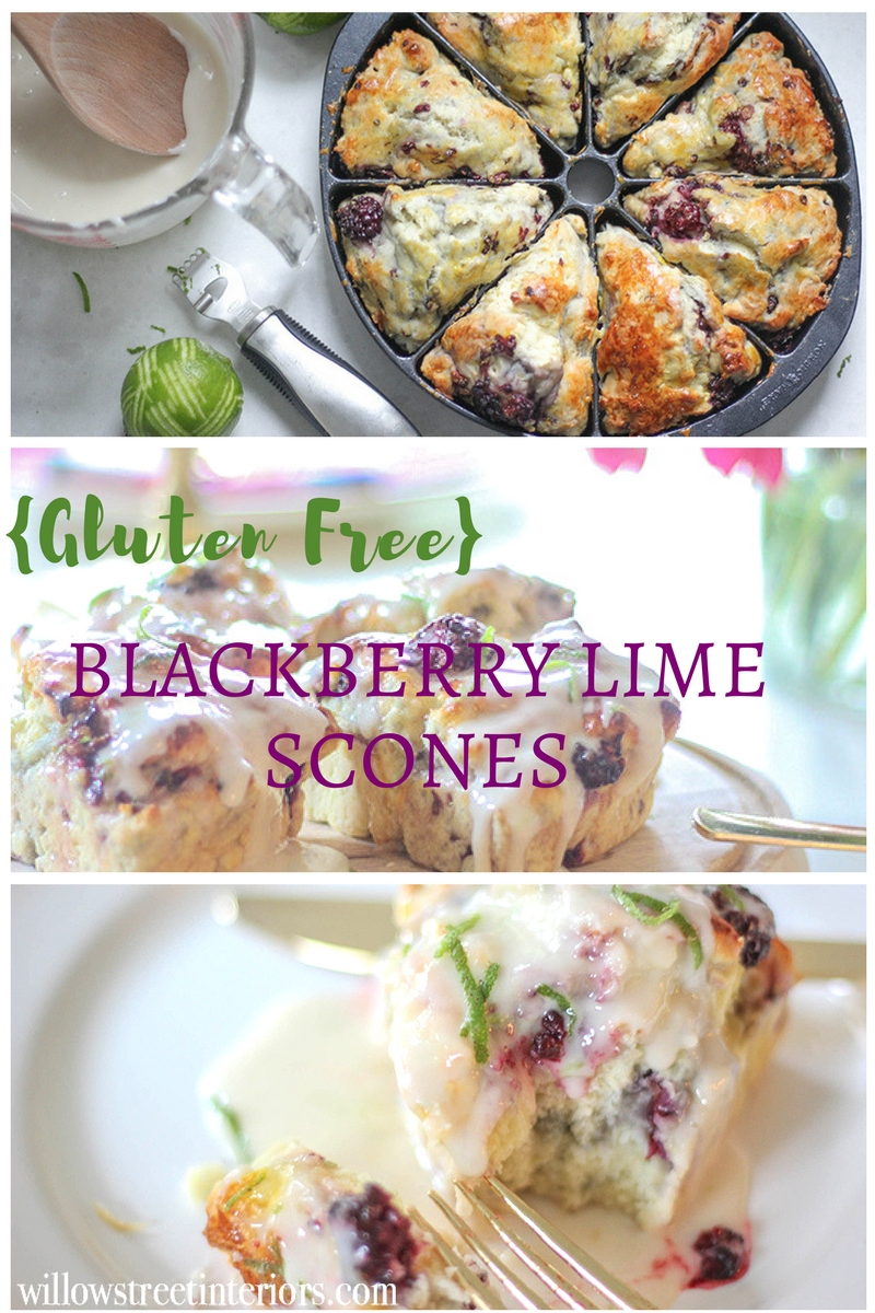 The Best Gluten Free Blackberry Lime Scones