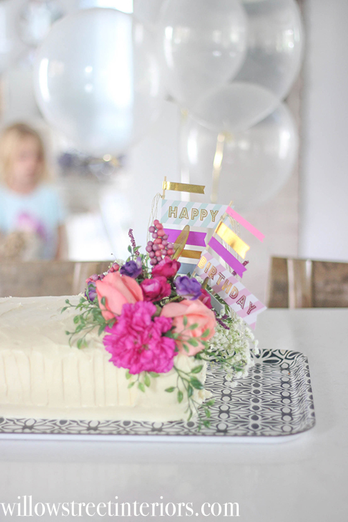 a girls fall themed birthday party