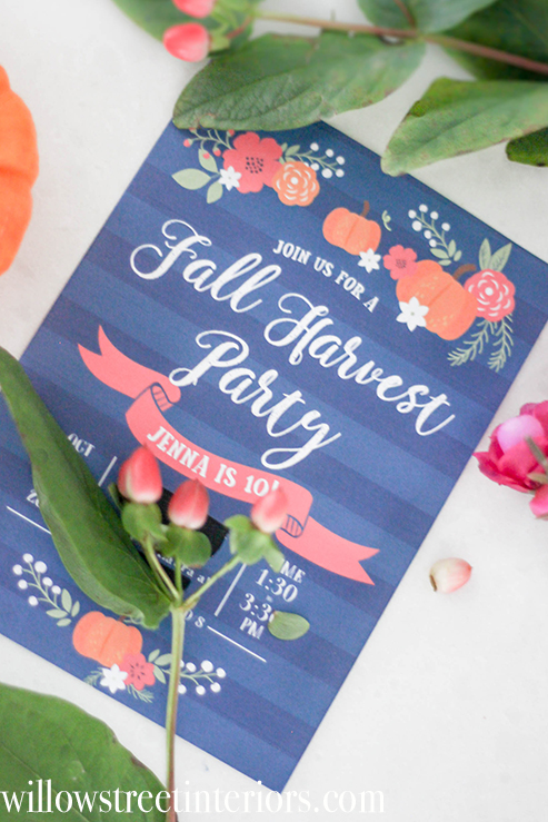 girls fall birthday party idea