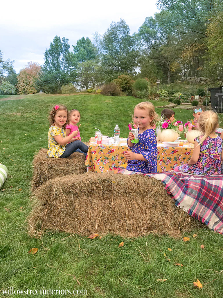 girls fall themed birthday party idea