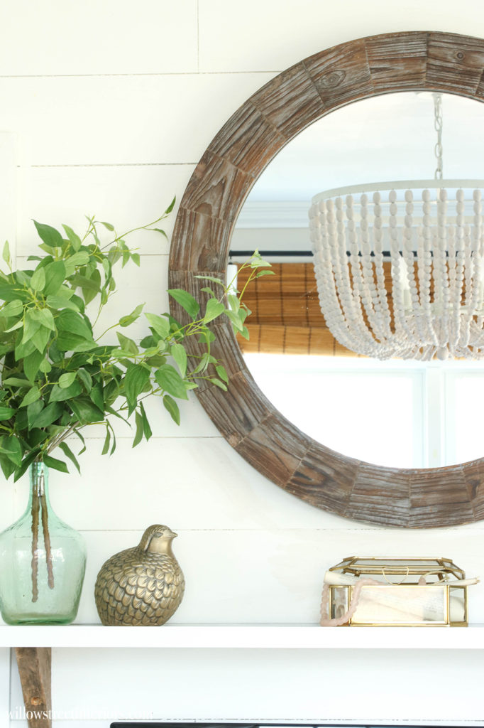 simple spring mantel idea