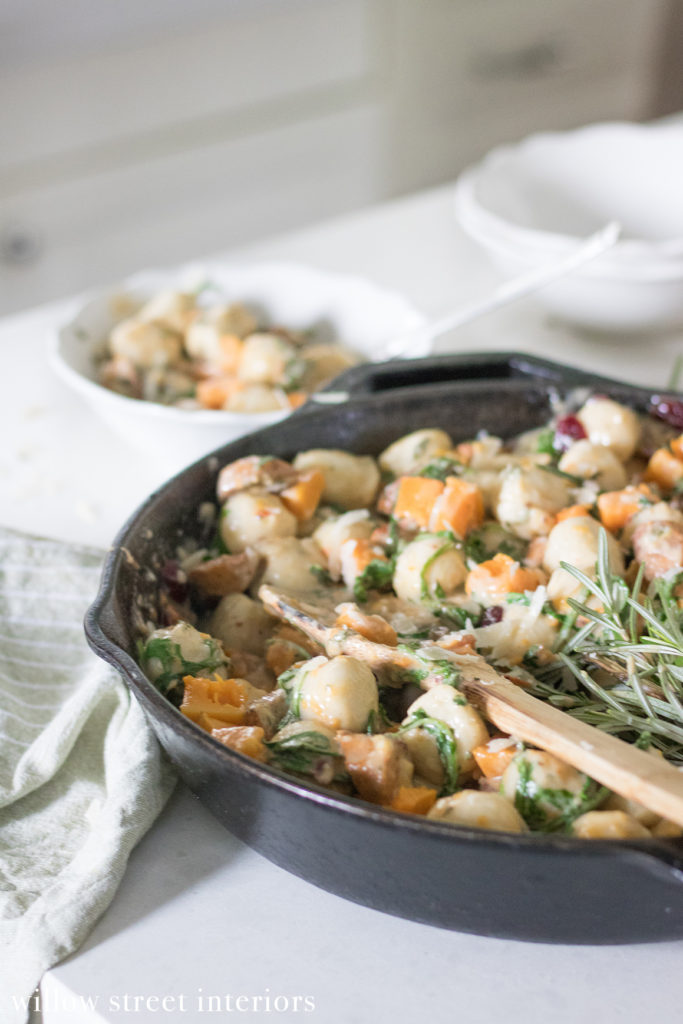 Gluten Free Gnocchi with Butternut Squash, Sausage and Arugula Recipe